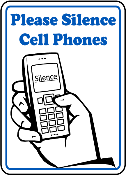 Please Silence Cell Phones Sign F7215 By Safetysign Com