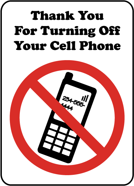 turning off cell phone