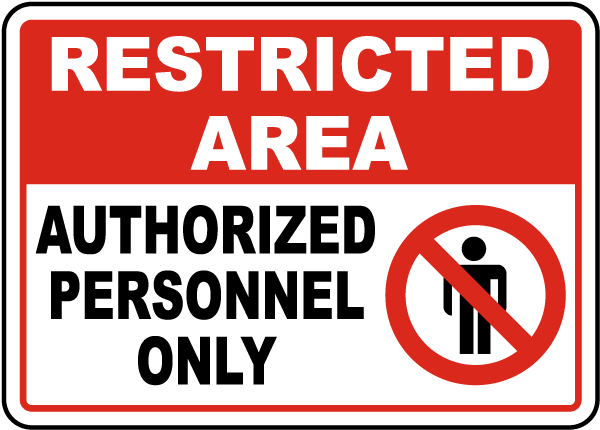Authorized Employees Only Sign By Safetysign Com F7302
