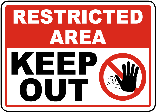Restricted Area Keep Out Sign F7433 - by SafetySign.com