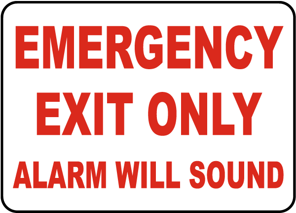Emergency Exit Only Sign by SafetySign.com - F7490