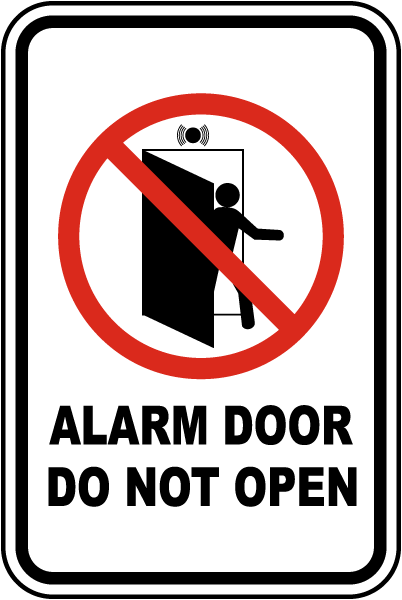 Alarm Door Do Not Open Sign  sc 1 st  SafetySign.com & Alarm Door Do Not Open Sign F7497 - by SafetySign.com