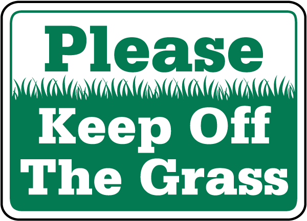 KEEP OFF GRASS Sign Durable Aluminum NO RUST Security Sign