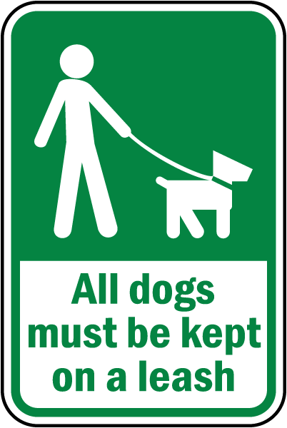 Keep dogs on lead COUN0081 Stickers /& Signs