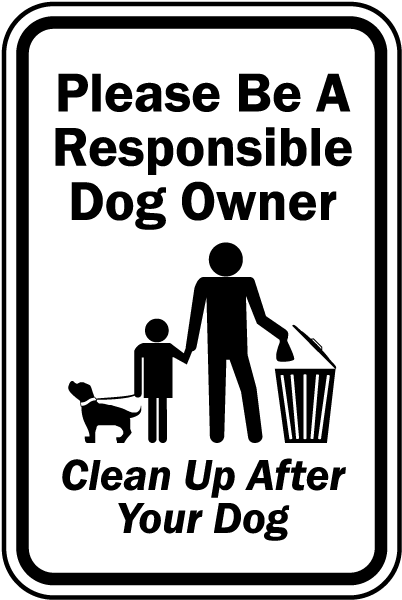 Free Clean Up After Your Dog Signs Printable