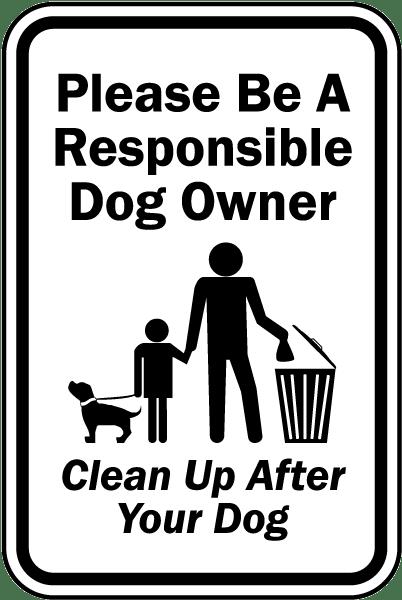 Image result for dog poop notice