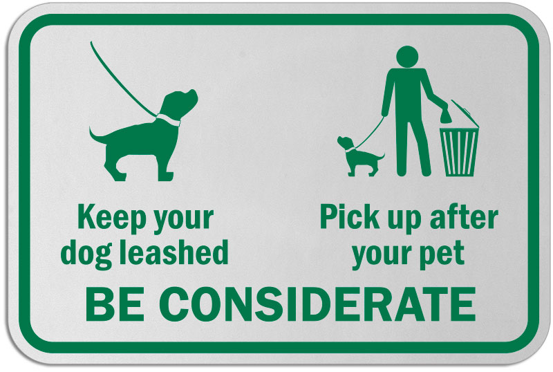 Keep Your Dog Leashed Sign F7597 By