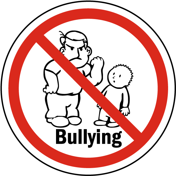 no bullying label f7615 by safetysign com