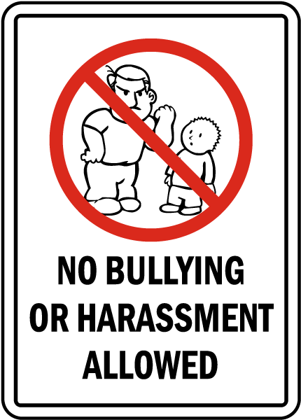 no bullying allowed sign f7626 by safetysign com