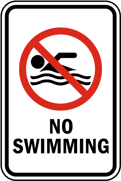 no littering in water sign