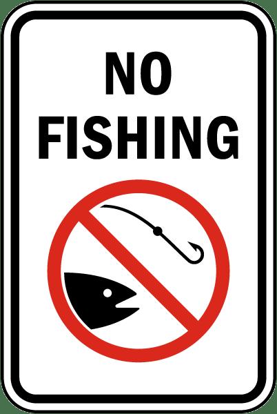 No Fishing Signs No Fishing Sign F7737 ...