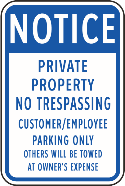 Customer Employee Parking Only Sign By Safetysign Com F7858