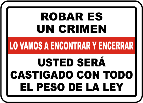 Do Not Shoplift Bilingual Sign By SmartSign 10 x 14 Plastic Shoplifting Is A Crime