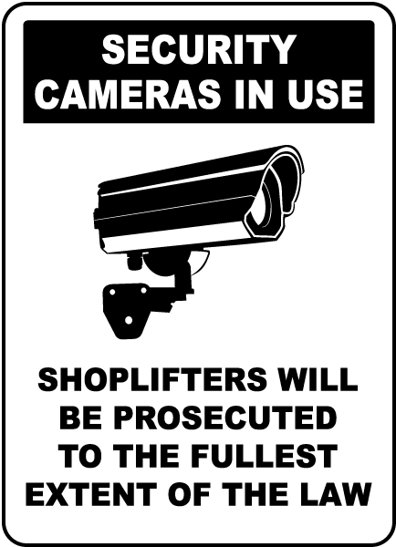security cameras in use sign f8076 by safetysigncom