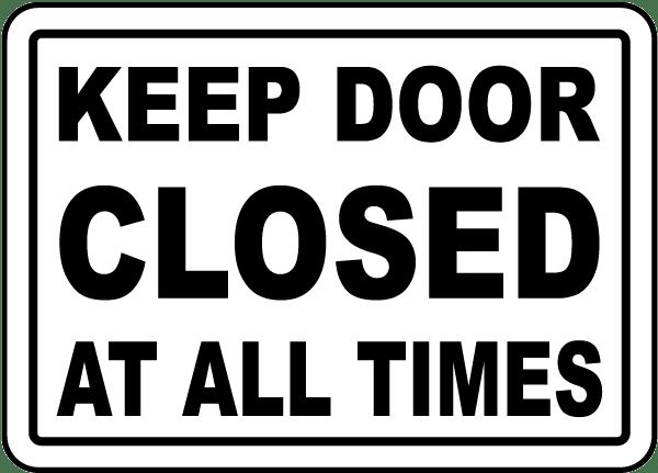 door closed sign