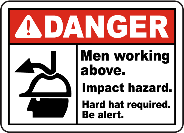 Men working above impact hazard sign g2369 by safetysign men working above impact hazard sign sciox Gallery