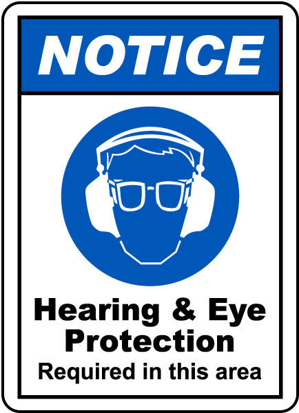 Hearing Amp Eye Protection Sign G2416 By Safetysign Com
