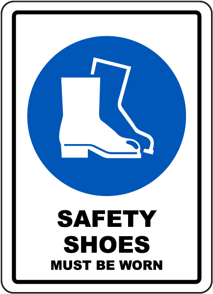 safety shoes must be worn sign by safetysigncom g2611