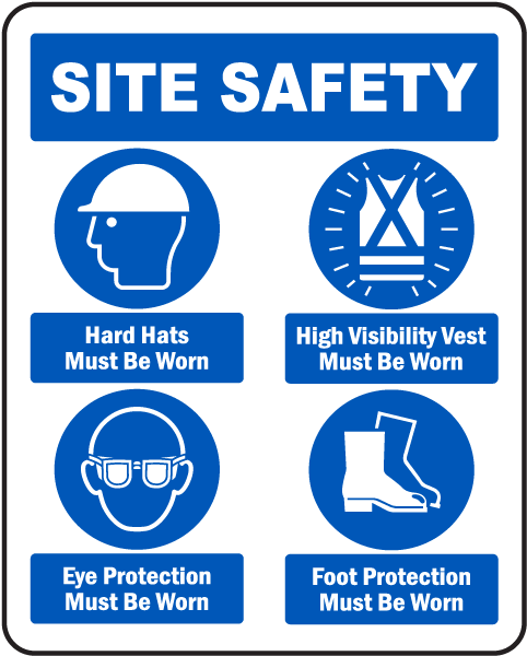 Site Safety Mandatory Ppe Sign G2615 By Safetysign
