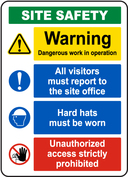 Construction Site Safety Sign G2631 - by SafetySign.com