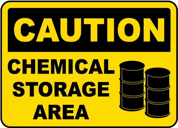 Caution Chemical Storage Area Sign G4778 Chemical Storage Signs By