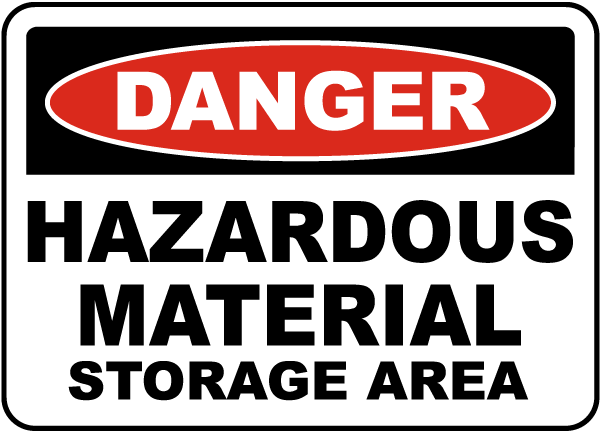 Hazardous Material Storage Area Sign G4782 By Safetysign Com