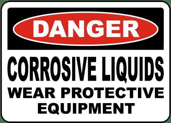 Danger - Corrosive Chemicals, dcca-sv001 :: OSHA SIGNS :: CHEMICAL ...