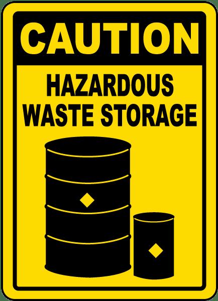 Caution Hazardous Waste Storage Sign G4813 - by SafetySign.com