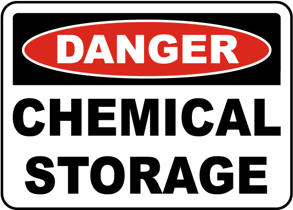 Danger Chemical Storage Sign G4845 By Safetysign Com