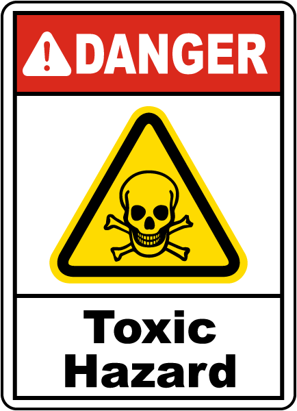 Danger Toxic Hazard Sign G4881 - by SafetySign.com