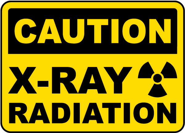 X Ray Radiation >> Caution X Ray Radiation Sign H1393 By Safetysign Com