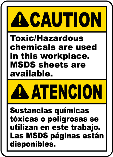 Caution Toxic Hazardous Chemicals Are Used In This