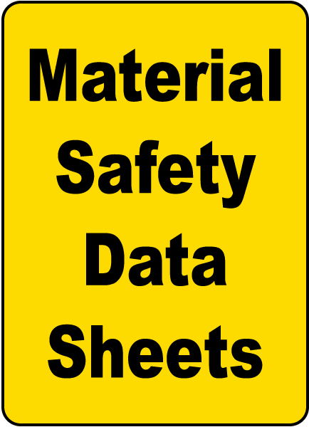 Material Safety Data Sheets Sign H1663 By Safetysign Com
