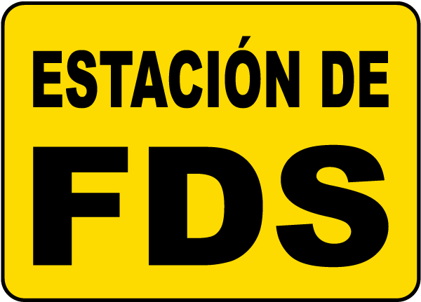 Spanish SDS Station Sign