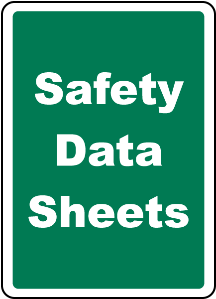 Safety Data Sheets Sign H1673 By Safetysign Com