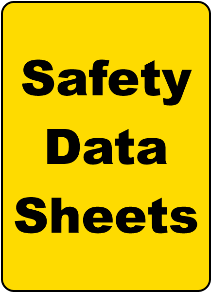 Safety Data Sheets Sign By Safetysign Com H1674