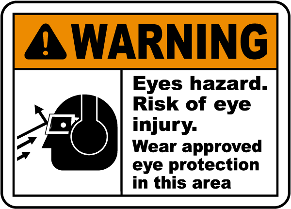 Eyes Hazard Risk Of Eye Injury Sign I2007 By Safetysign