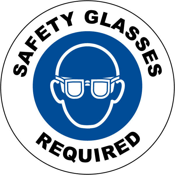 Safety Glasses Required Floor Sign I2055 By Safetysign
