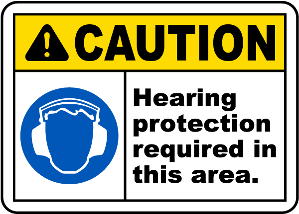 Hearing Protection Required Sign I2414