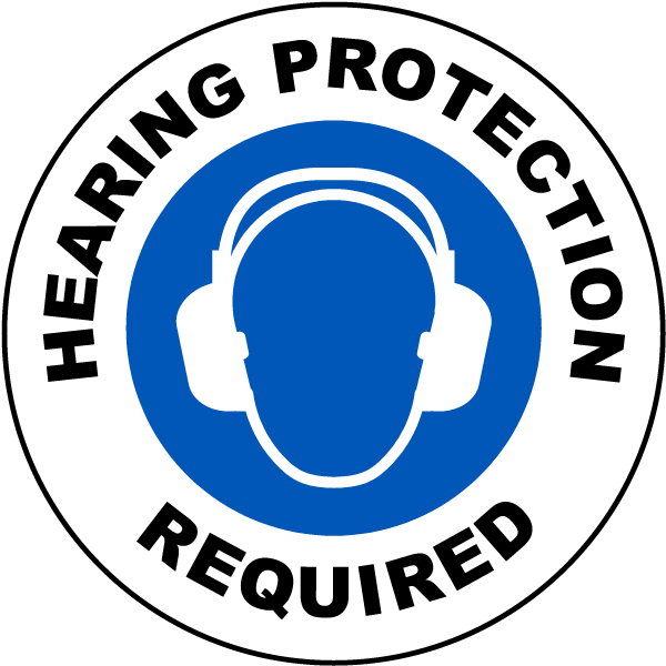 Hearing Protection Required Floor Sign I2453 By Safetysign