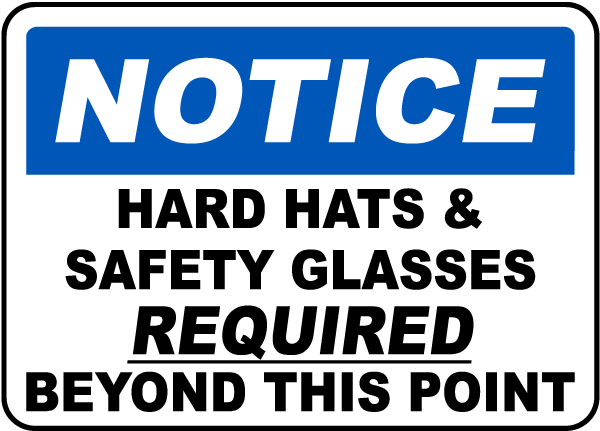 Hair Covering Required Sign