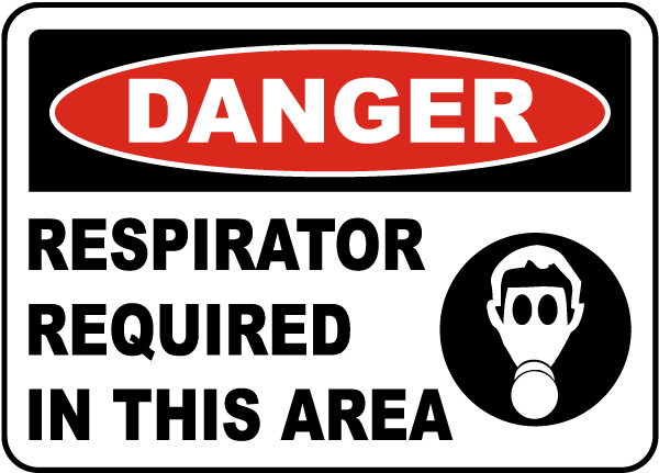 Respirator Required In This Area Sign I4426 - by ...