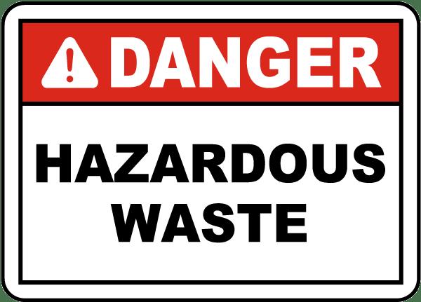 danger hazardous waste label - Hazardous Waste Labels