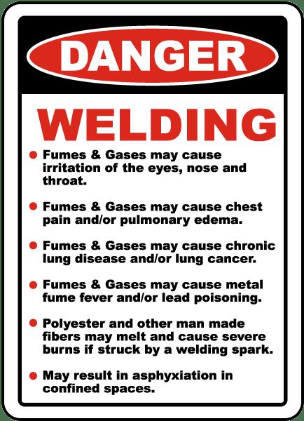 Danger Welding Hazards Sign I5668 By Safetysign Com