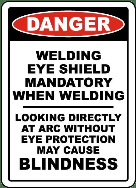 Welding Eye Shield Mandatory Sign