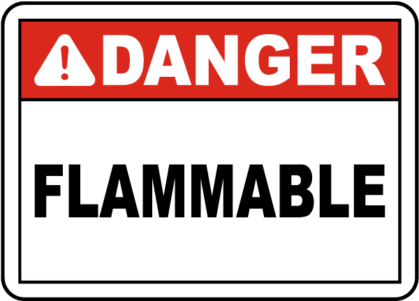 Danger Flammable Sign J1658 By Safetysign