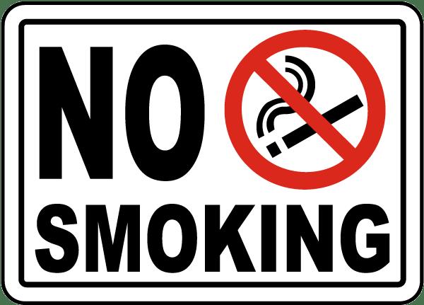 no smoking sign by safetysign com