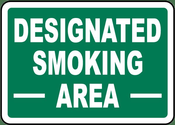 Designated Smoking Area Sign J2506 - by SafetySign.com