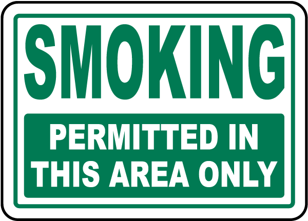 Smoking Permitted In This Area Sign J2507 - by SafetySign.com