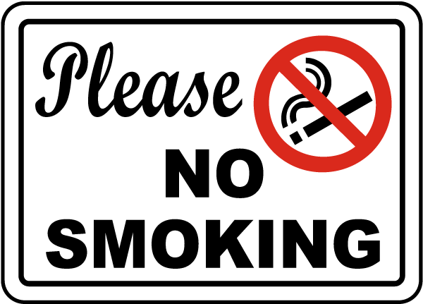 Please No Smoking Sign J2514 - by SafetySign.com